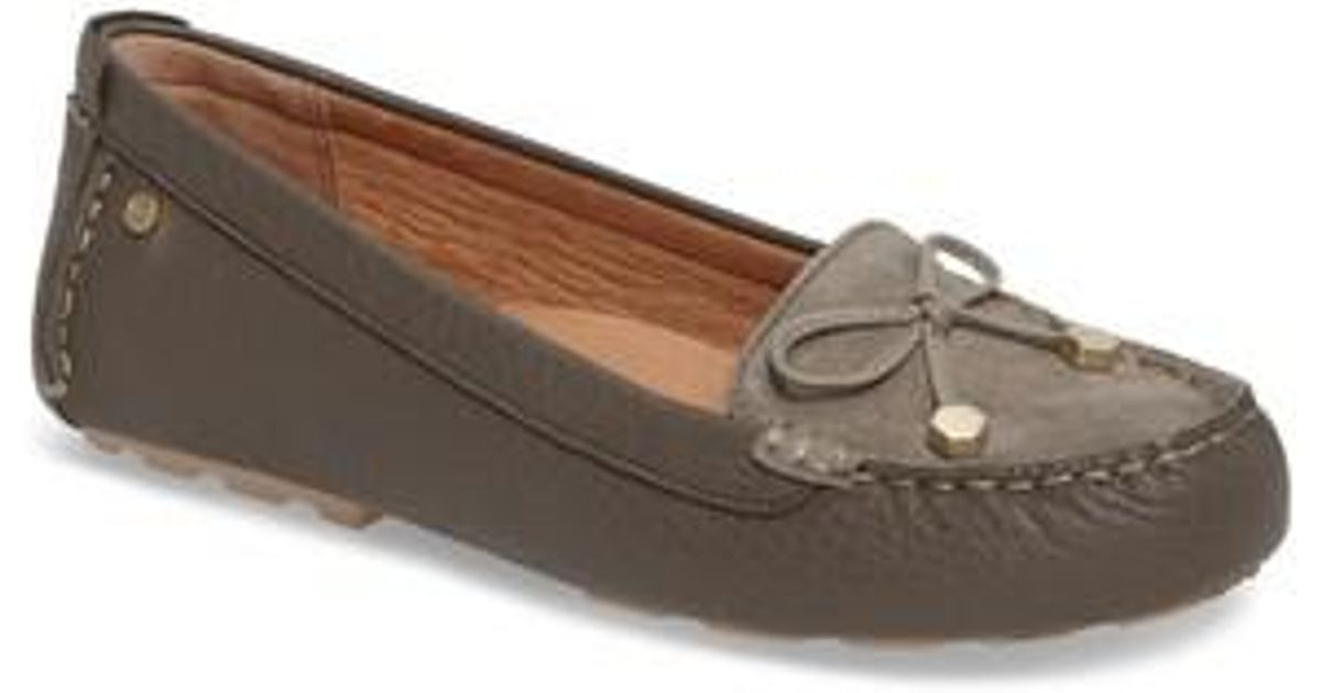 9c052a6fcc9 Lyst - UGG Ugg Brinley Driving Moccasin in Brown