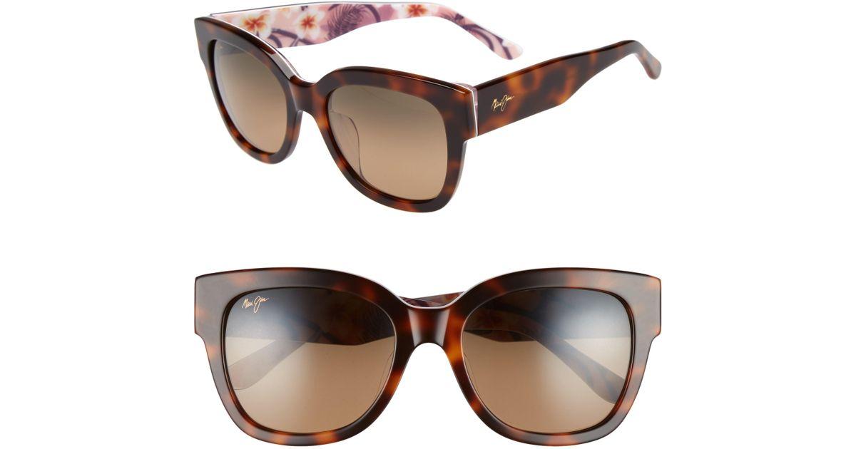 3deef3e435 Maui Jim 54mm Rhythm Polarized Sunglasses - in Brown - Lyst