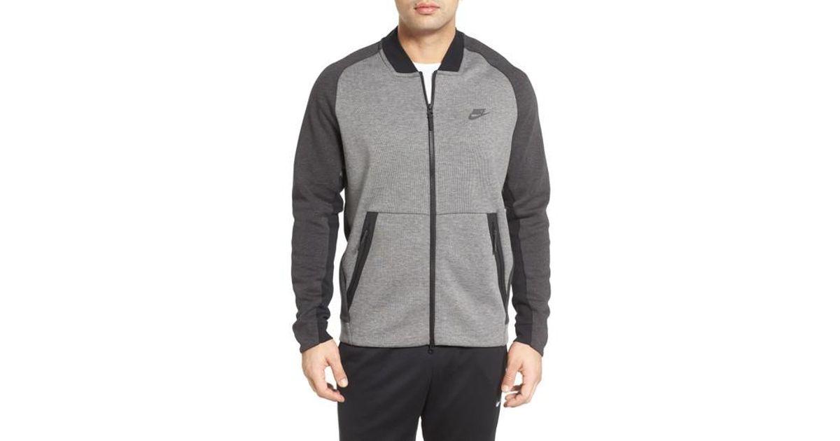 5221f7aa5060 Lyst - Nike Tech Fleece Varsity Jacket in Black for Men