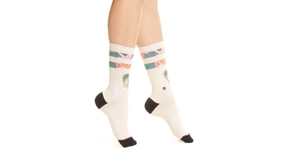 17c9f422d Lyst - Stance Lovebird Crew Socks in Natural