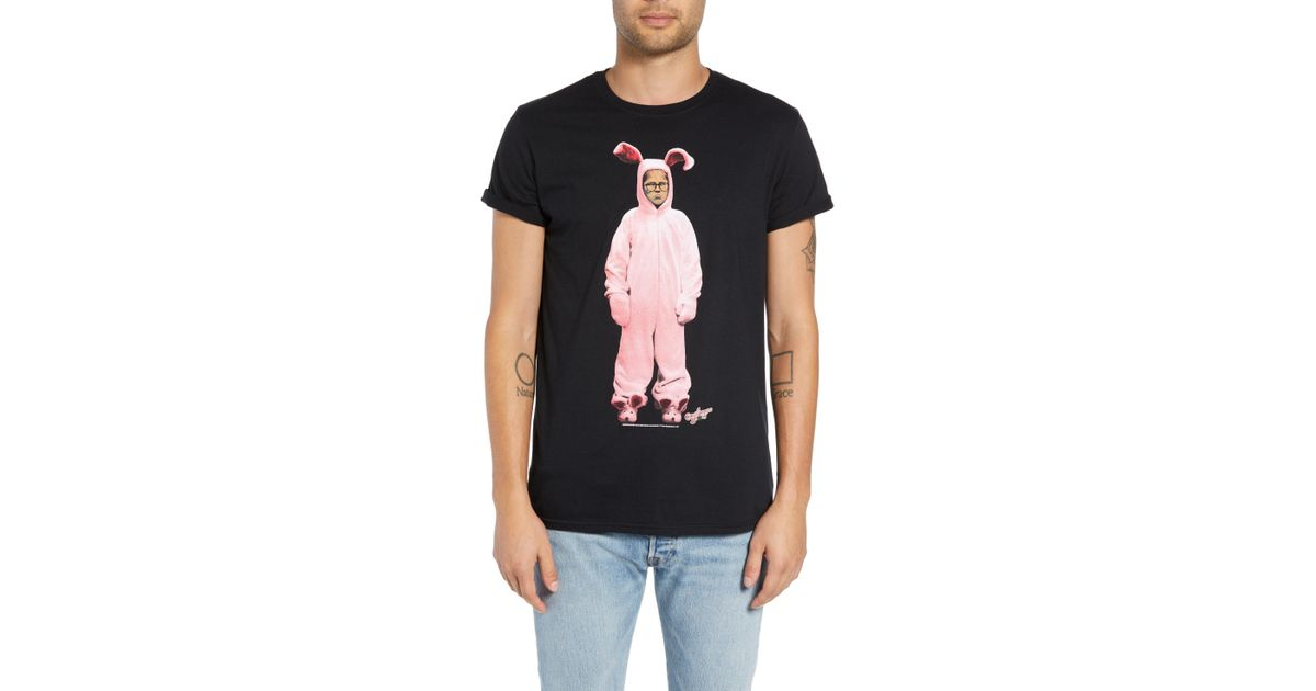 Christmas Story T Shirts.The Rail Black A Christmas Story Graphic T Shirt For Men Lyst