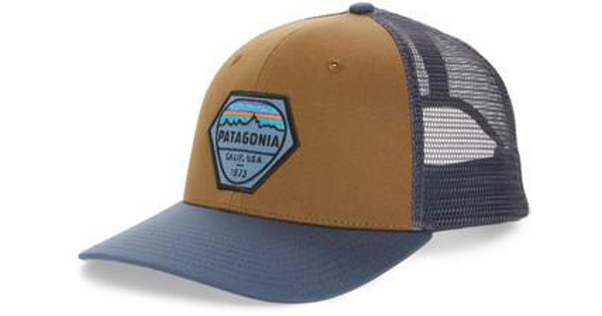 8805f5e48d630 Patagonia Fitz Roy Hex Trucker Cap - in Blue for Men - Lyst