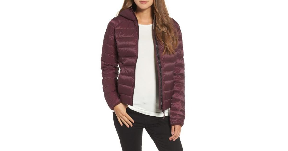 Lyst - Canada Goose 'brookvale' Packable Hooded Quilted Down Jacket, Purple in Black