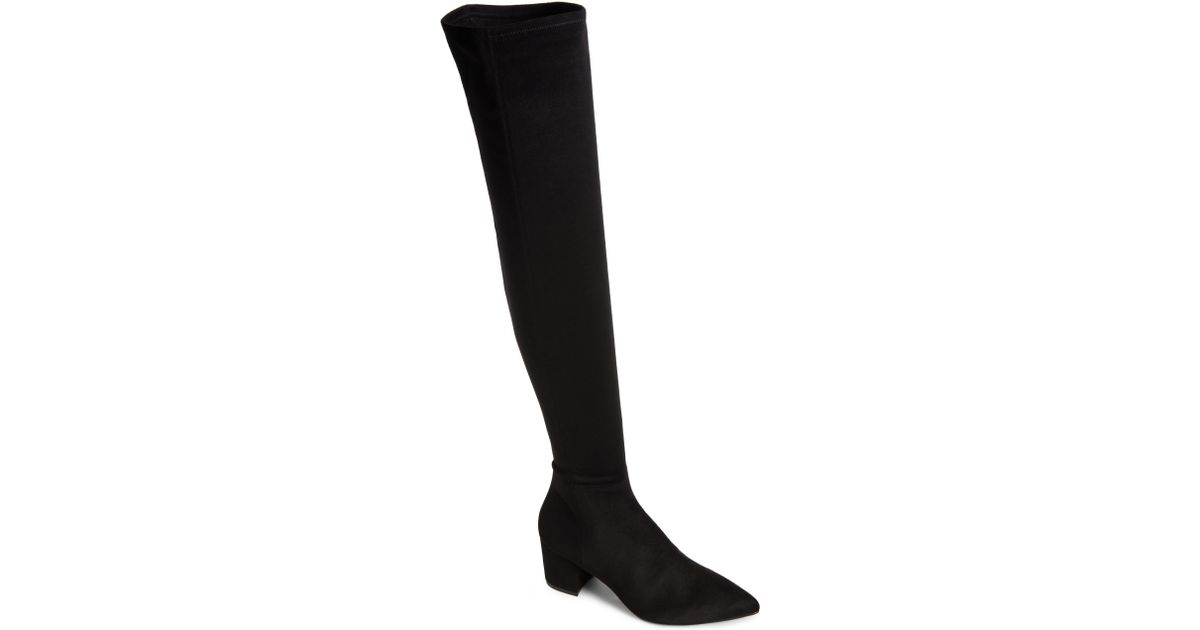 715aff43686 Lyst - Steve Madden Brinkley Over The Knee Stretch Boot in Black