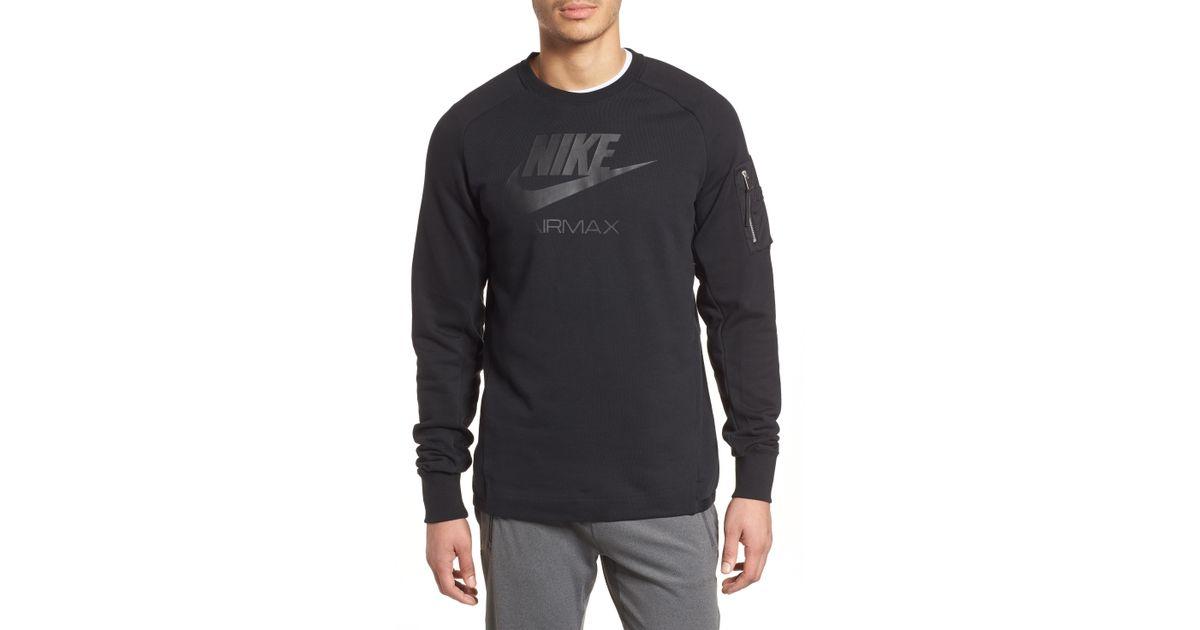 d18ad567d6d159 Air Men For In Sweatshirt Lyst Nike Black Max Crewneck Nsw Oq8E8zw4