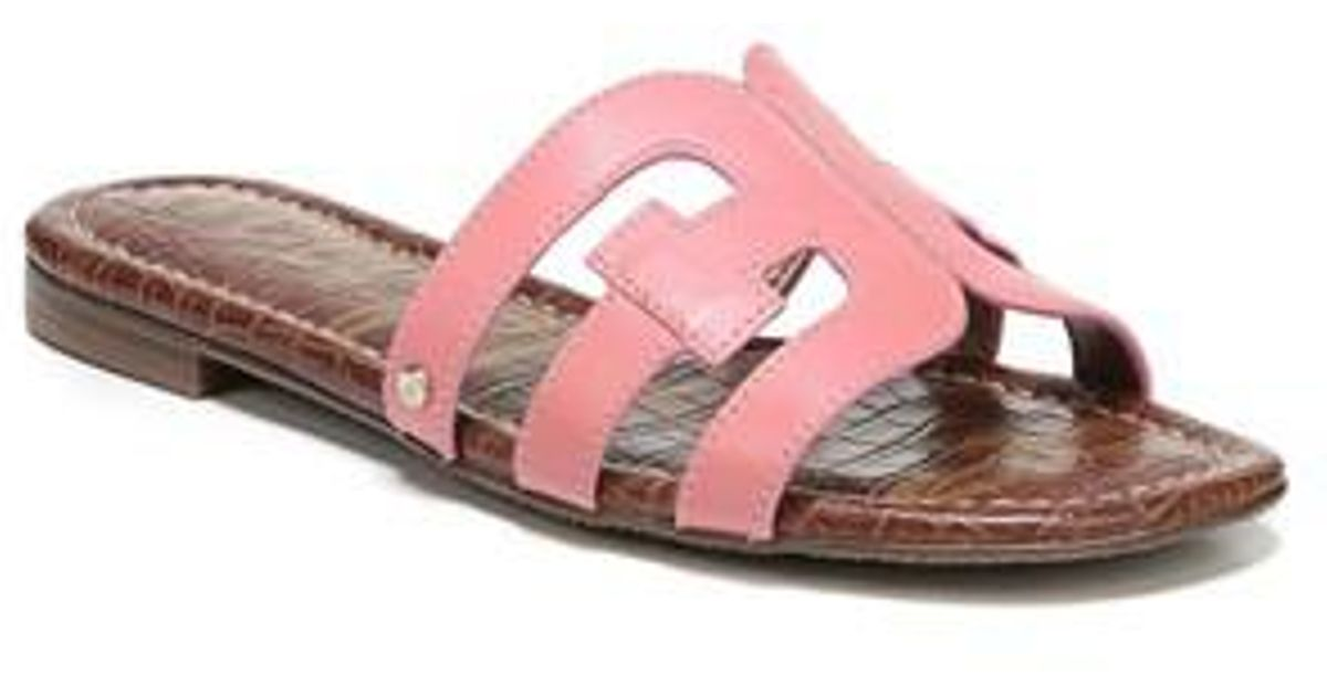 c11e9dace4002 Lyst - Sam Edelman Bay Cutout Slide Sandal (women) in Pink