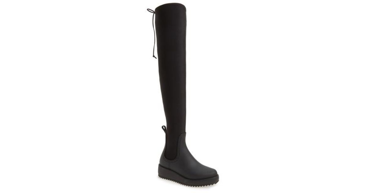 8dc5a99b9f29 Lyst - Jeffrey Campbell Monsoon Over-the-knee Platform Rain Boot in Black -  Save 25%