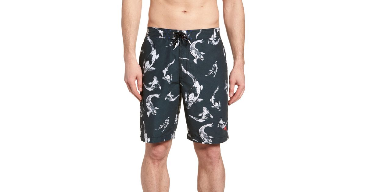 9daaaee65c Lyst - Tommy Bahama Baja Kois Are Back In Town Board Shorts in Black for Men