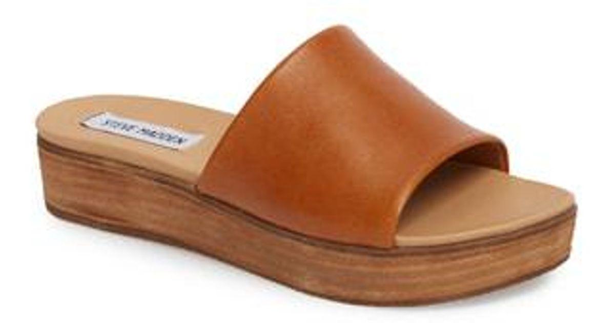 f997473d66 Steve Madden Genca Slide Sandal in Brown - Lyst