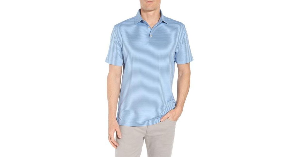 1128ae5966b Lyst - Peter Millar Competition Stripe Stretch Jersey Polo in Blue for Men