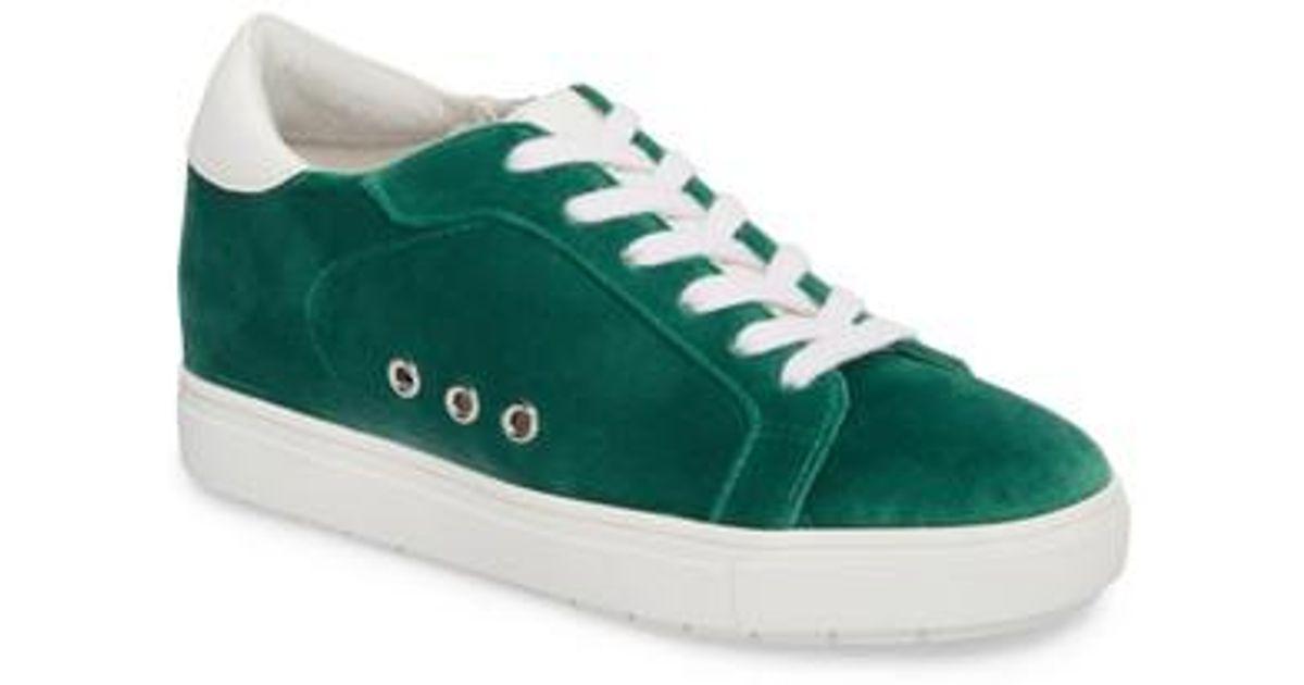 4842ed3e6b0 Lyst - Steve Madden Steal Concealed Wedge Sneaker in Green
