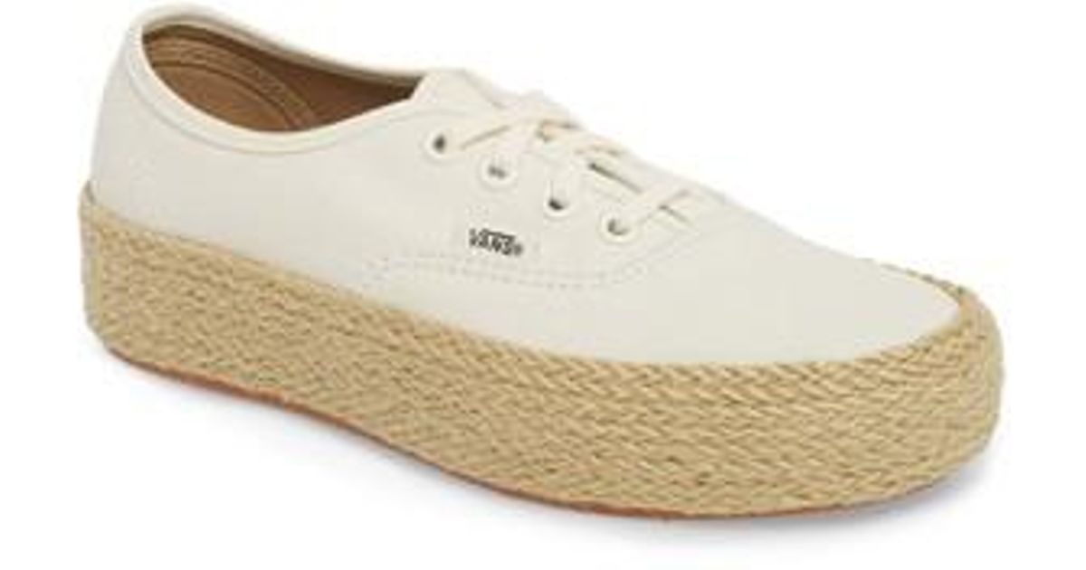 feb74421bc4 Lyst - Vans Authentic Espadrille Platform Sneaker