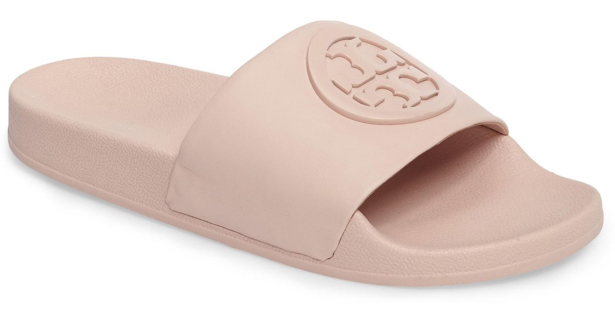 c098bfe275b Lyst - Tory Burch Lina Slide Sandal in Pink