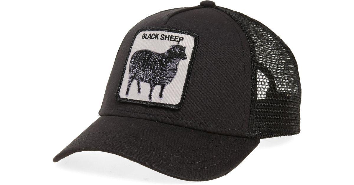 cf619b996f919 Goorin Bros  animal Farm - Naughty Lamb  Trucker Cap in Black for Men - Lyst