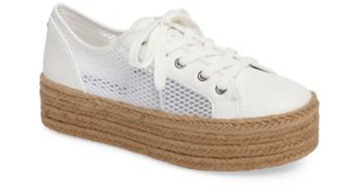 ddf4d285f79 Lyst - Steve Madden Mars Platform Sneaker in White