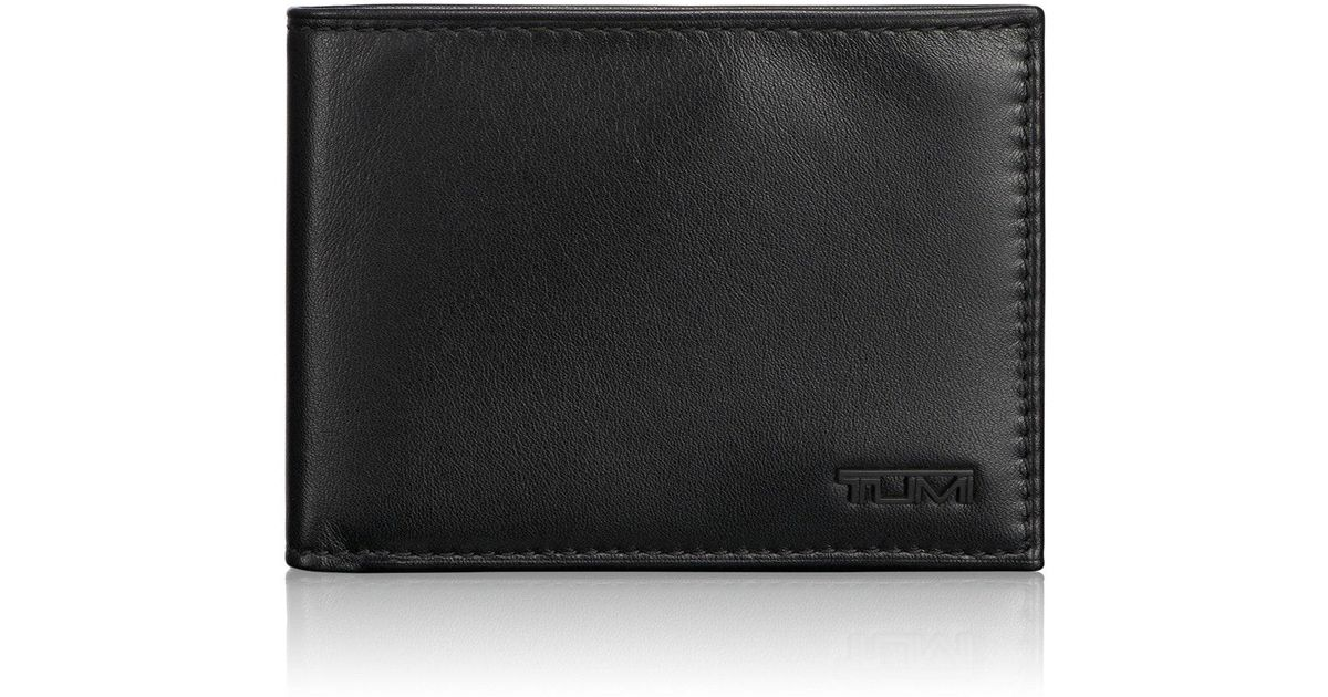 6c884af3560f Lyst - Tumi  delta Global - Id Lock(tm)  Shielded Double Billfold Wallet in  Black for Men - Save 20%