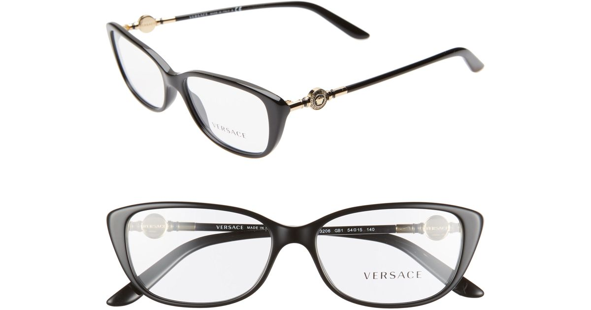 6e8cdeec37 Lyst - Versace 54mm Cat Eye Optical Glasses -