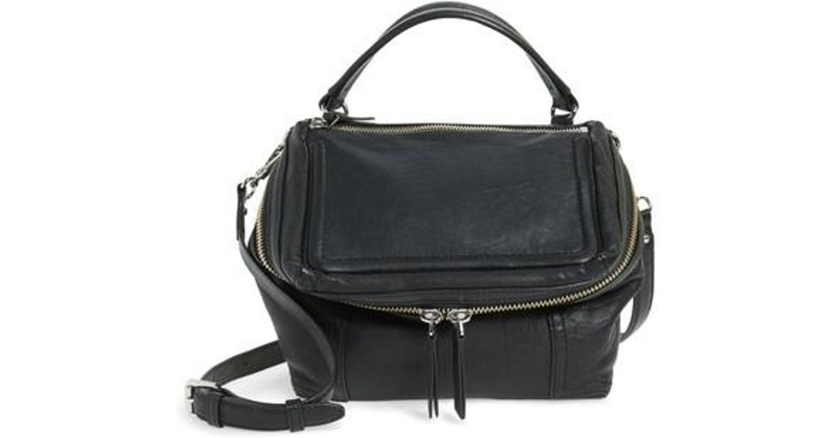 29645e92ea1e Lyst - Vince Camuto Medium Patch Leather Crossbody Bag in Black