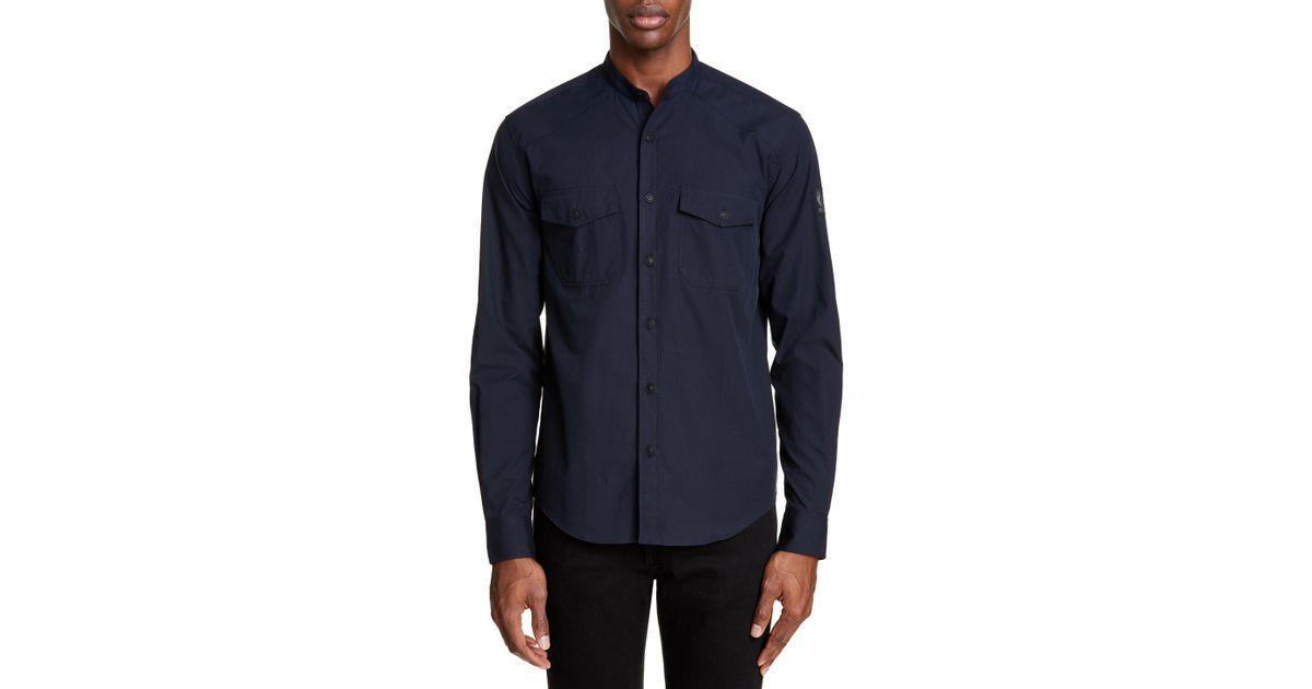 2c44a3ff11 Lyst - Belstaff Kearsley Woven Shirt in Blue for Men