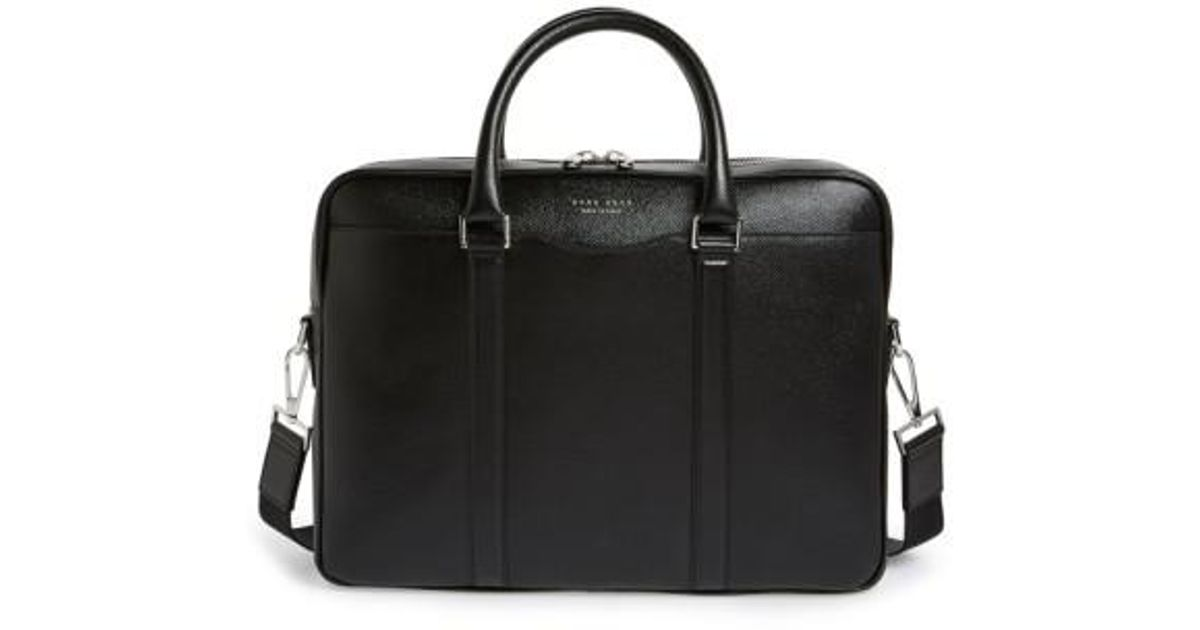 Lyst - BOSS  signature  Leather Briefcase in Black for Men a53d6fe26c203