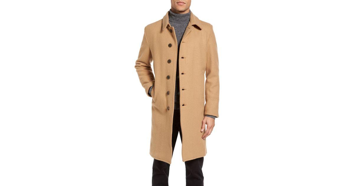 55c870f4815d Lyst - Schott Nyc Wool Blend Officer s Coat in Brown for Men