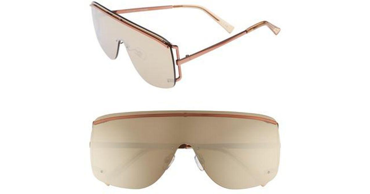 4fbe6941cd59 Le Specs Elysium 140mm Shield Sunglasses - Copper - Lyst