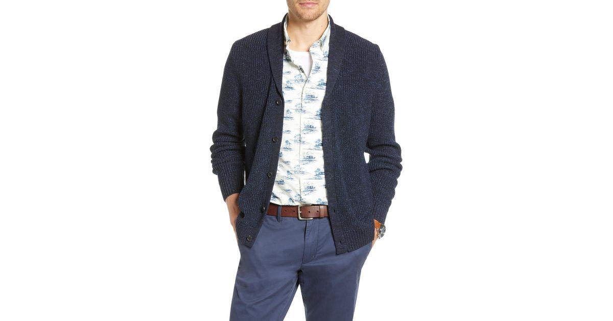 Lyst - Nordstrom 1901 Shawl Collar Marled Cardigan in Blue for Men 271dd146f
