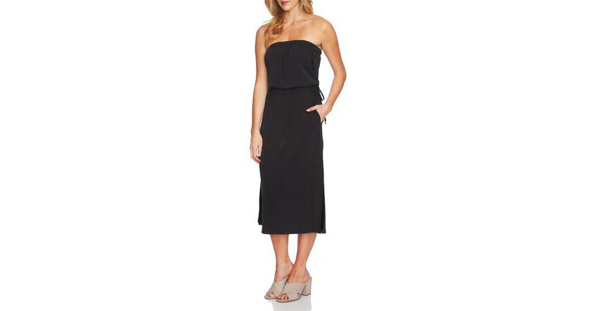 1.STATE Black Strapless Maxi Dress