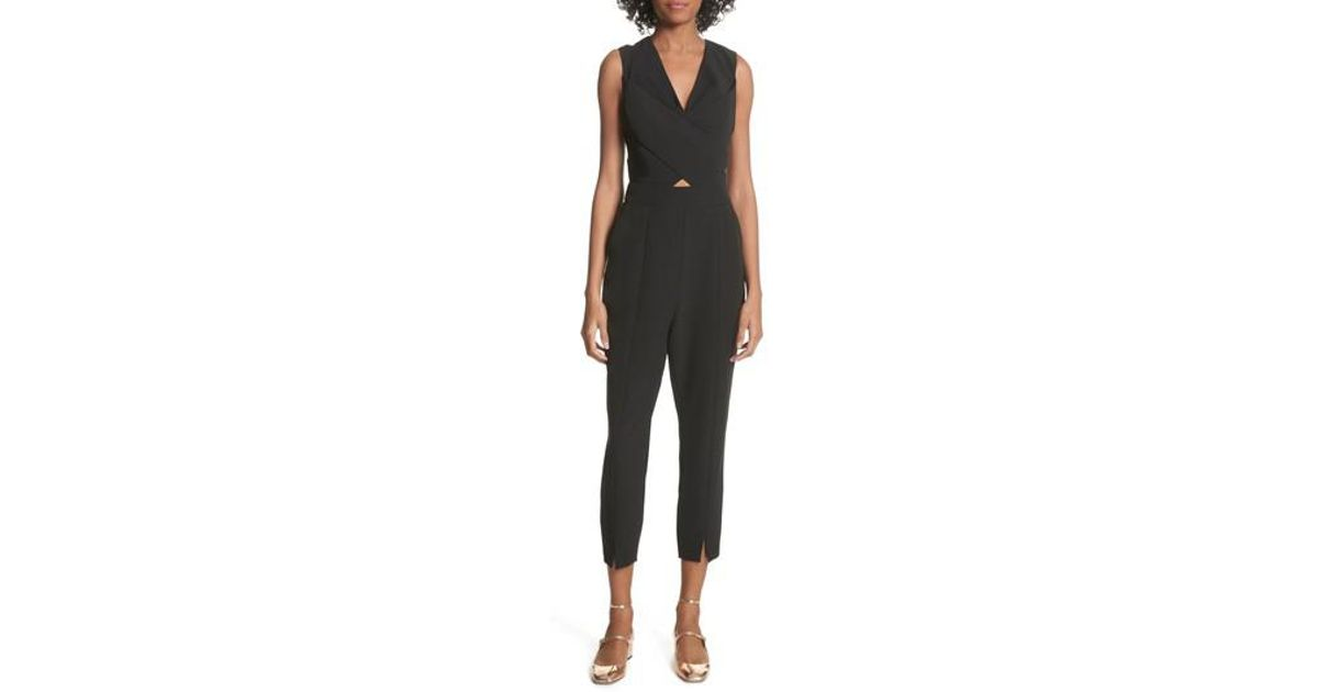 f50bcc99944 Lyst - Ted Baker Crisscross Front Jumpsuit in Black