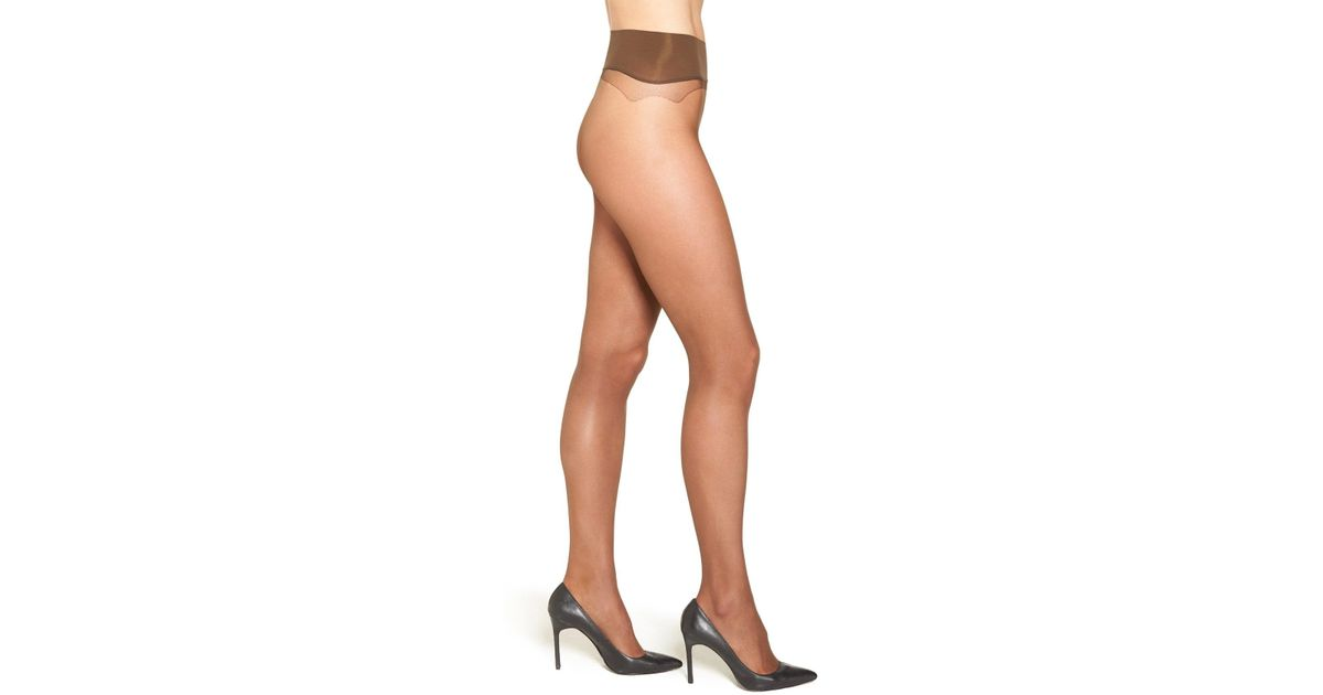 75f1f5265 Lyst - Nordstrom Seamless Sheer Pantyhose in Natural