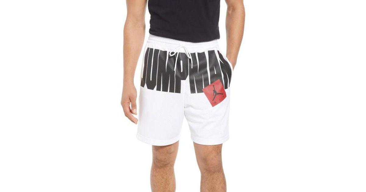175b0a95a0a Nike Nike Jumpman Air Mesh Shorts in White for Men - Lyst