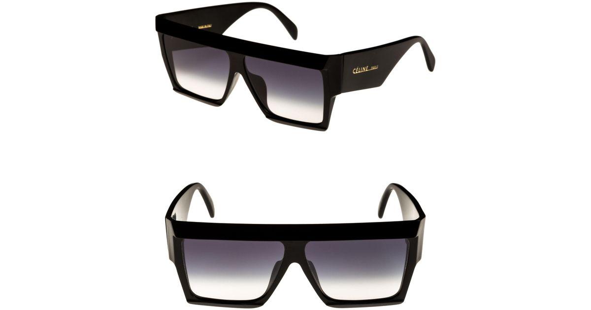 8f674819a96a Céline Bold Angular Acetate Sunglasses in Black - Lyst