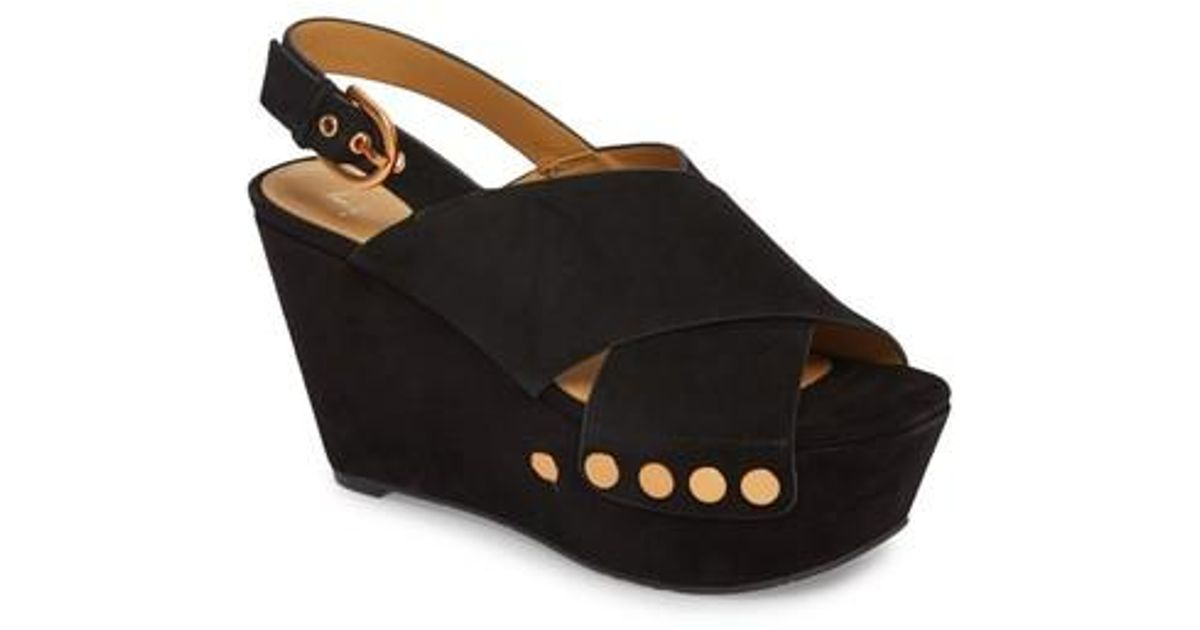 0d675e072d5f Lyst - Marc Fisher Barlow Wedge Sandal (women) in Black