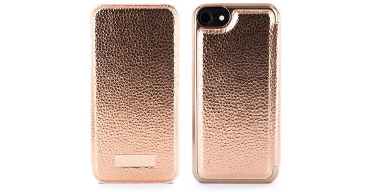 15a7a0706 Lyst - Ted Baker Cedar Faux Leather Iphone 6 6s 7 8 Mirror Folio Case