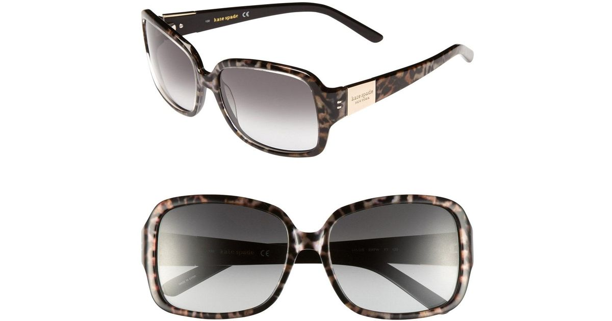 30a523b745a Lyst - Kate Spade  lulu  55mm Rectangular Sunglasses -