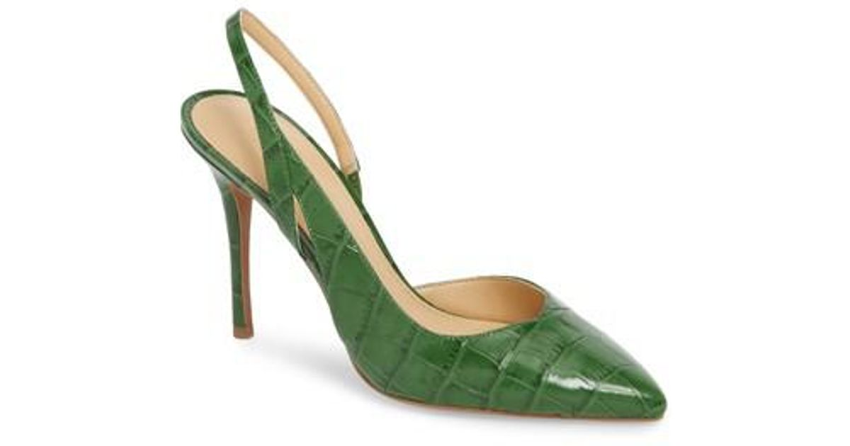 Lyst Michael Michael Kors Eliza Pump In Green Save 43 61702127659574