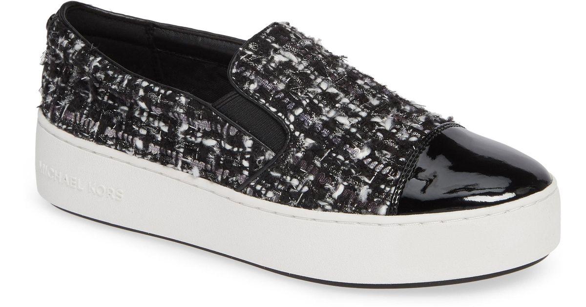 df6ea96c603 Lyst - MICHAEL Michael Kors Tia Slip-on Platform Sneaker in Metallic