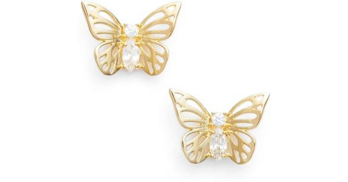 3a4a50ce2027b Kate Spade - Metallic Social Butterfly Stud Earrings - Lyst