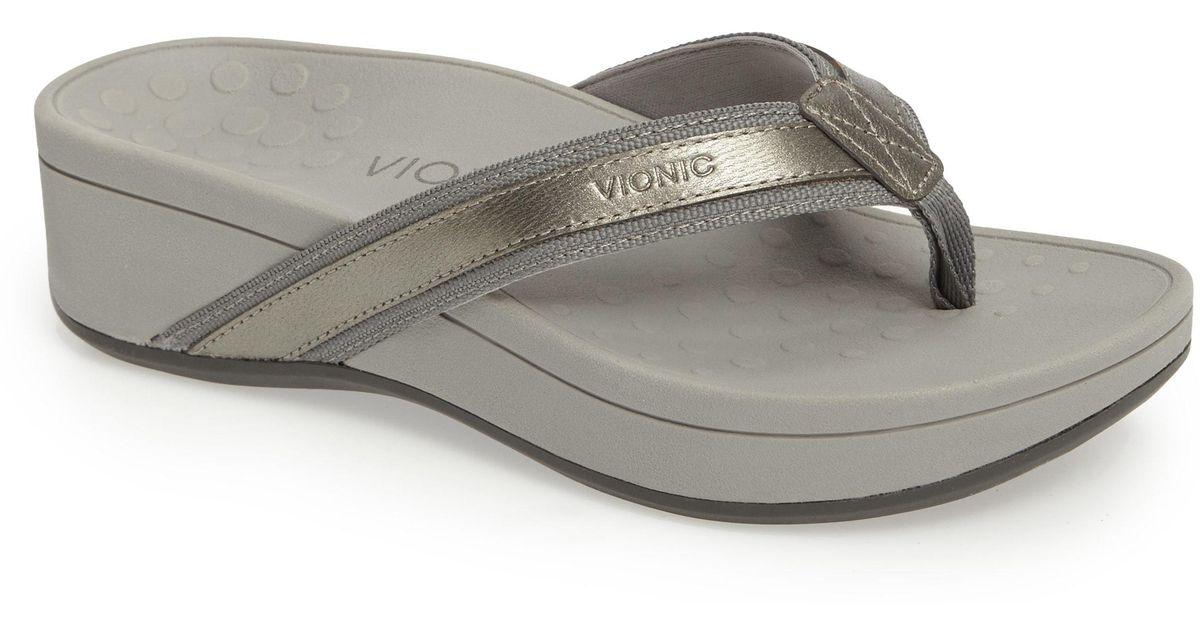Lyst - Vionic High Tide Wedge Flip Flop-9009