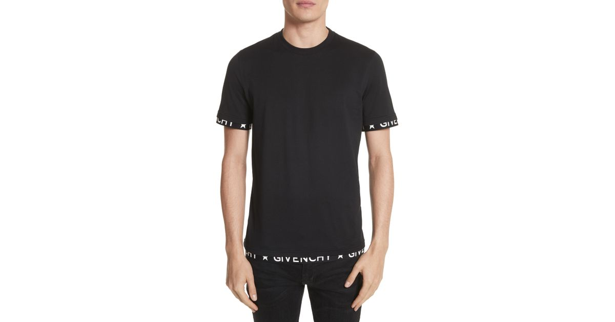 bfb94aad2fe4 Lyst - Givenchy Half Band Crewneck T-shirt in Black for Men