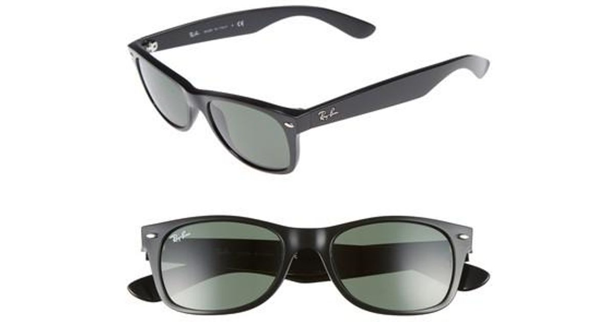 df4537a4581 Lyst - Ray-Ban Small New Wayfarer 52mm Sunglasses in Black