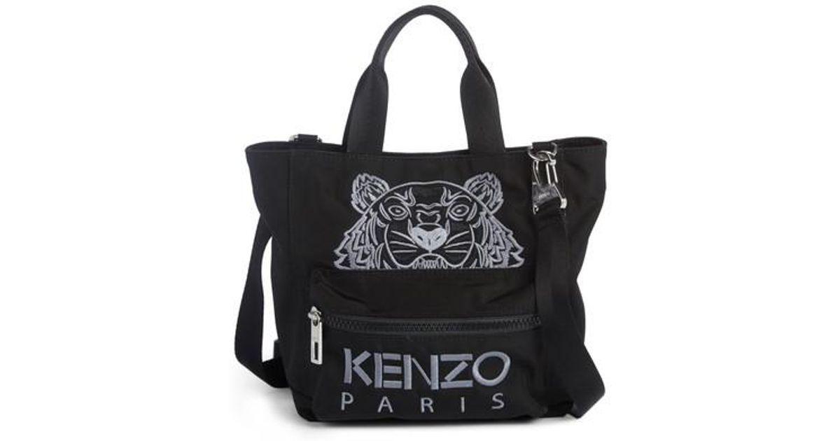 35209c14f2 KENZO Mini Kanvas Embroidered Tiger Tote in Black - Lyst