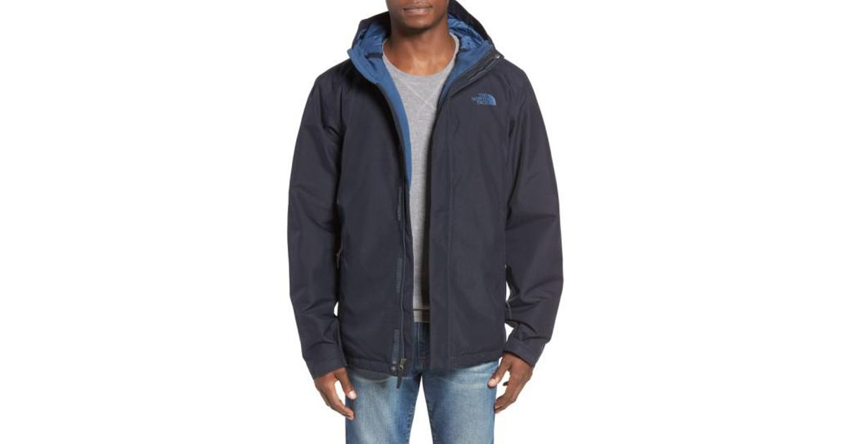 f33de2b59 The North Face - Blue 'inlux' Hooded Jacket for Men - Lyst