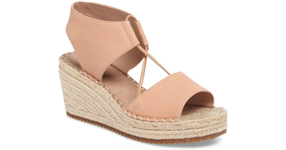 067290d37 Eileen Fisher Agnes Nubuck Espadrille Wedge Sandals - Save 5% - Lyst