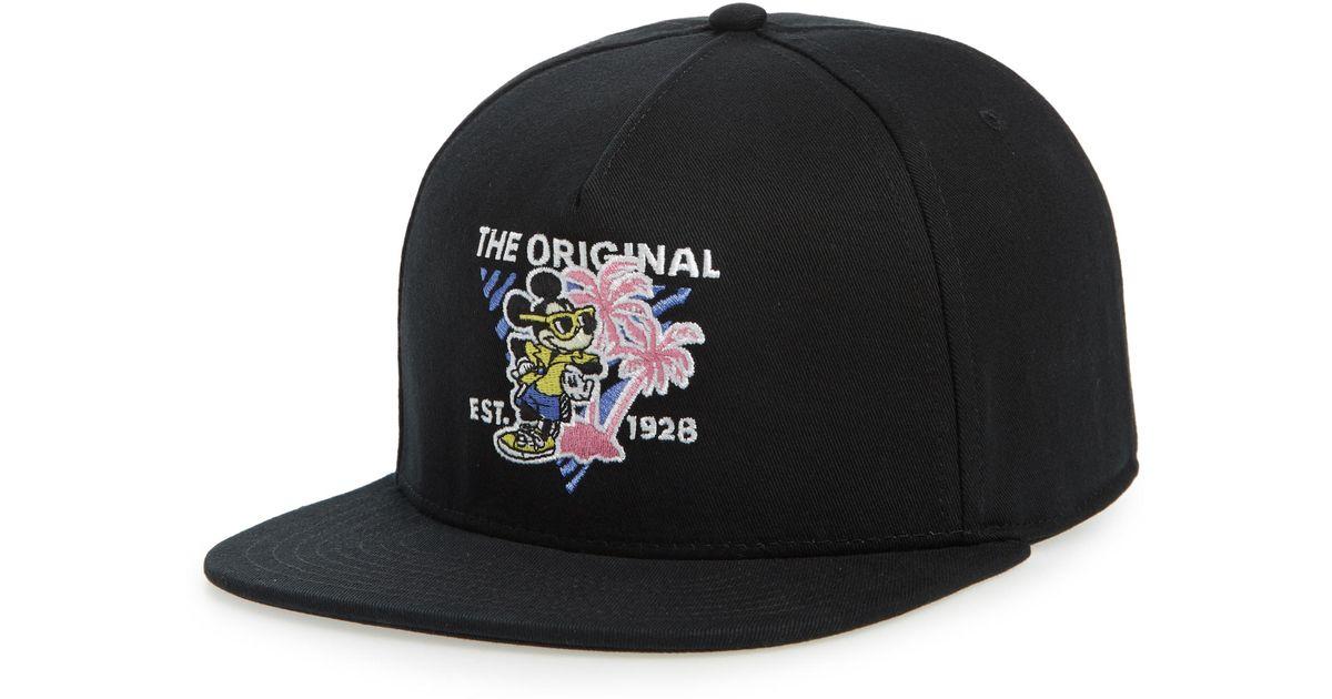 357d585d Vans X Disney Mickey's 90th Anniversary Snapback Hat in Black for Men - Lyst