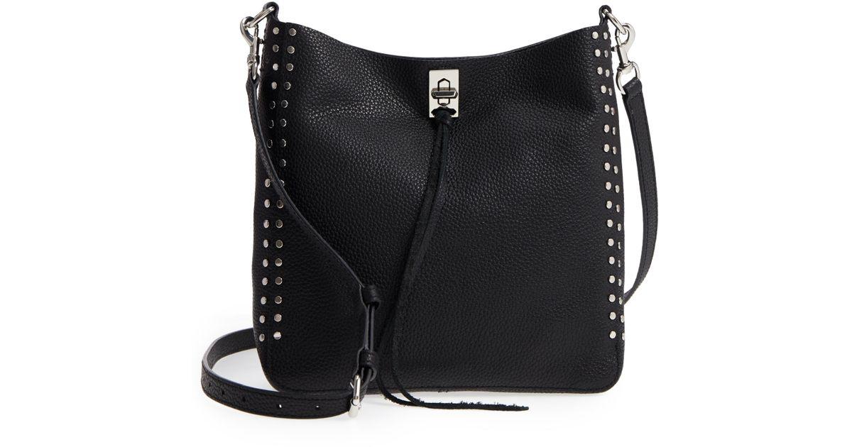 547ab1785 Lyst - Rebecca Minkoff Small Darren Leather Feed Bag -
