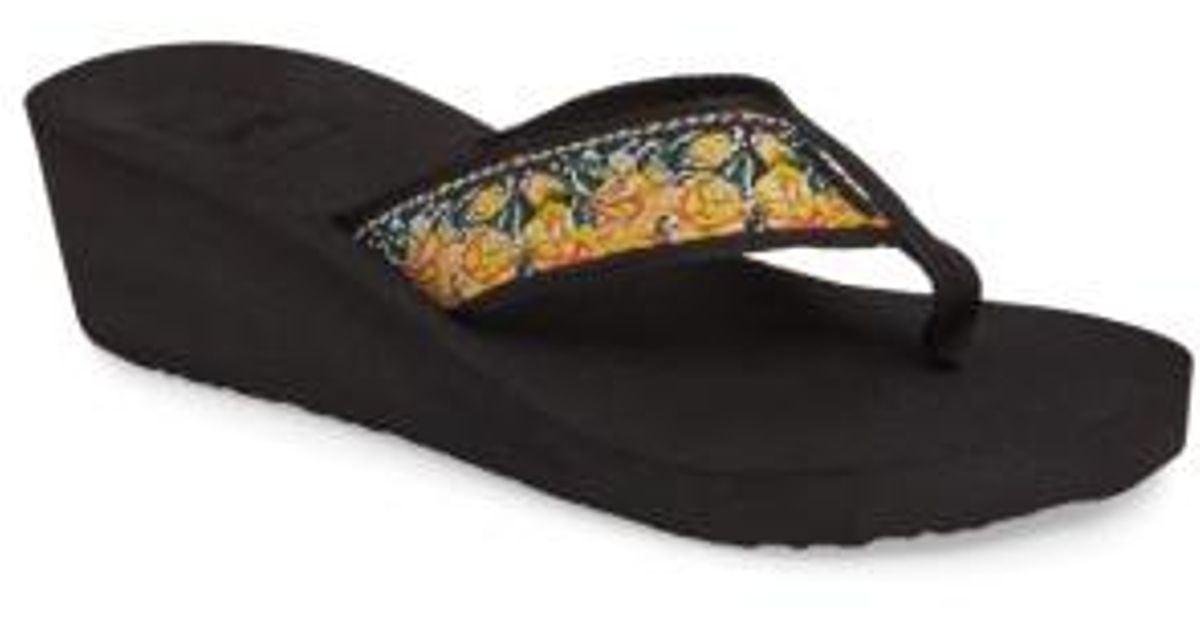 e07bf1b56e8 Lyst - Teva Mush Mandalyn Ii Wedge Sandal in Black
