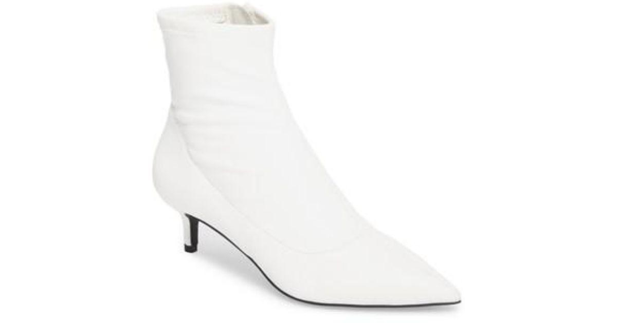 b5ca76bb35 Free People Marilyn Kitten Heel Bootie in White - Lyst