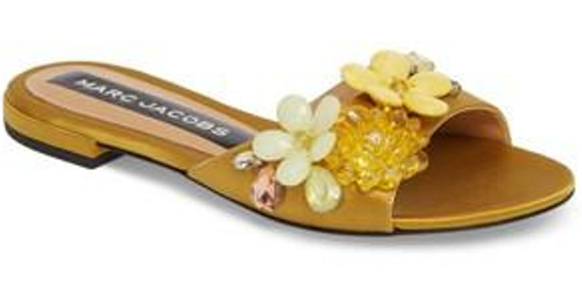 Marc Jacobs Clara Embellished Slide