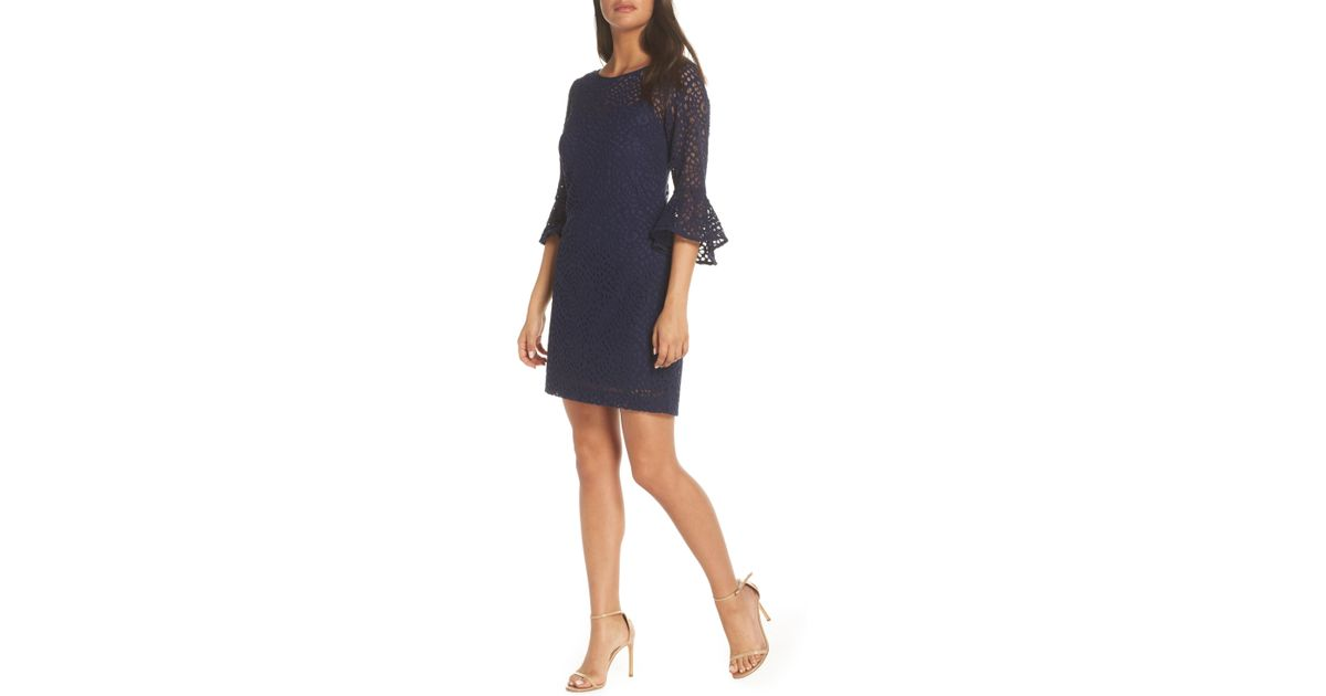 ac488d30d4e7da Lyst - Lilly Pulitzer Lilly Pulitzer Fontaine Lace Dress in Blue